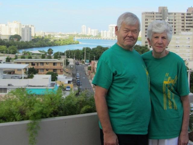 My parents over looking Condado