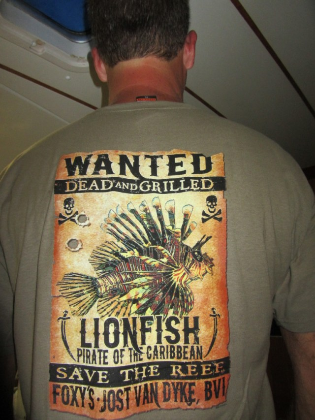Foxy's new lion fish shirt