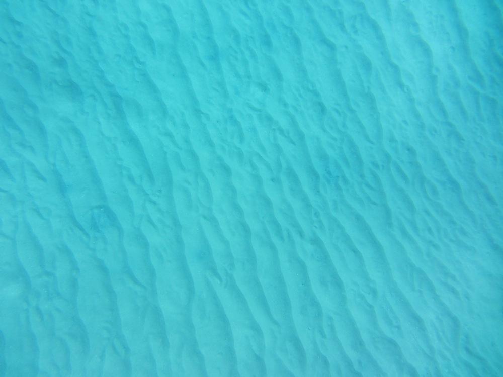 Sand ridges on the sea floor