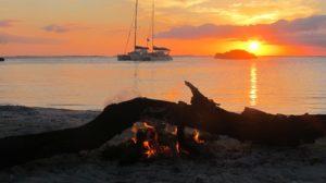 Bahamas beach fire
