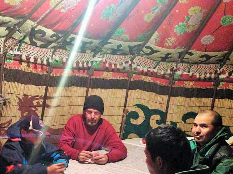 Playing Cards In A Yurt