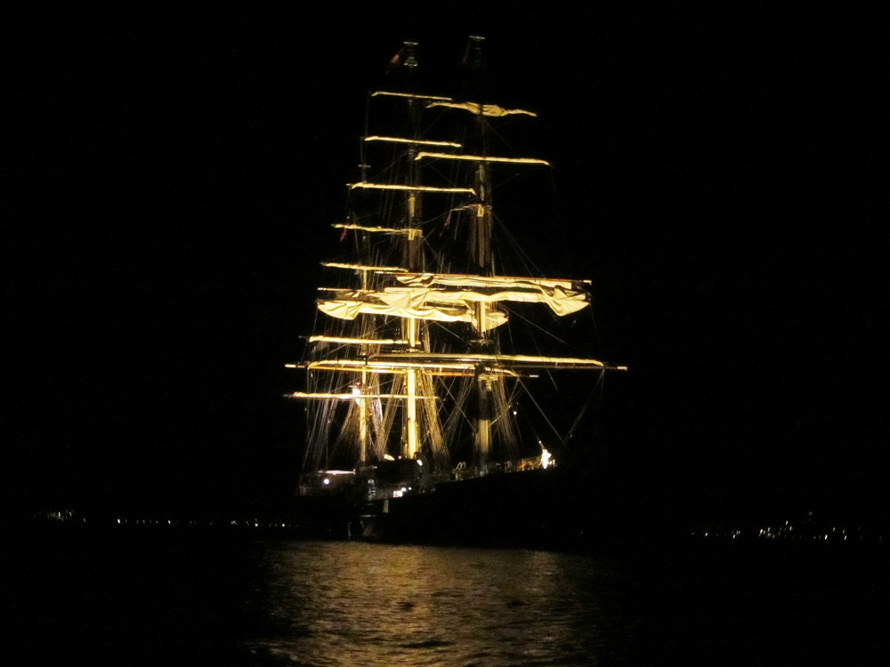 Tall Ship At Night