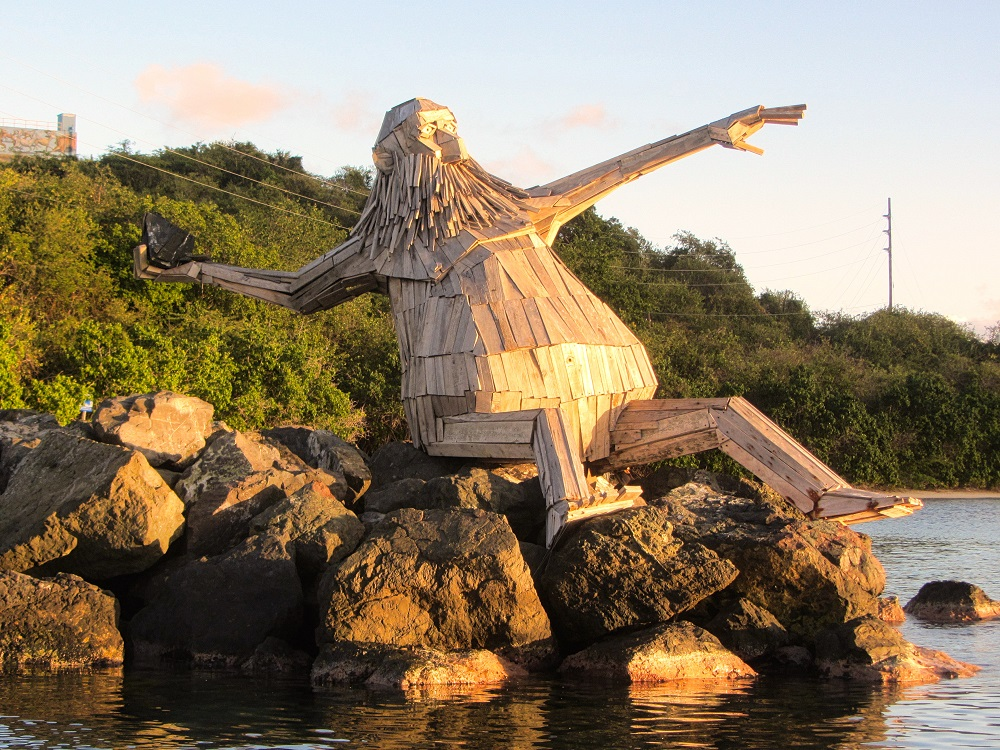 Culebra Statue Gaurding Channel