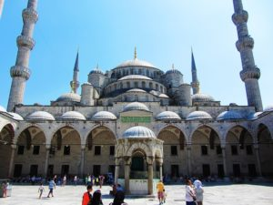 Turkey - Istanbul - Blue Mosque - Courtyard