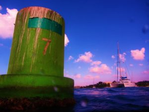 Guiding Light with a bouy