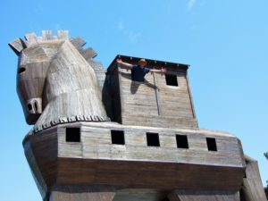 Trojan Horse at Troy, Turkey