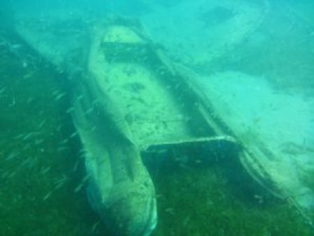 dinghy underwater