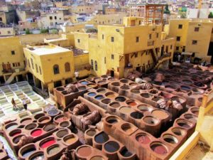 Morocco travel guide - Fez Tanneries