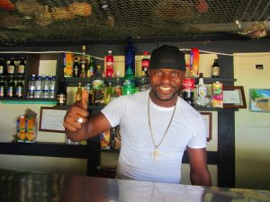 Ezra the bartender and owner