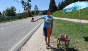 Manjaca 01 Decak sa malinama pored puta u Sitnici foto Milan Pilipovic