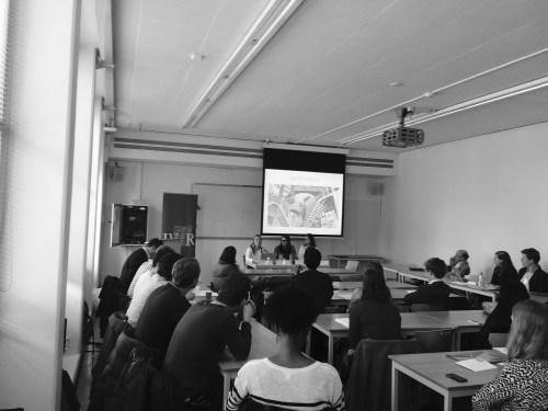 Studentencongres 8 april Informatierecht IViR (zwart-wit foto)