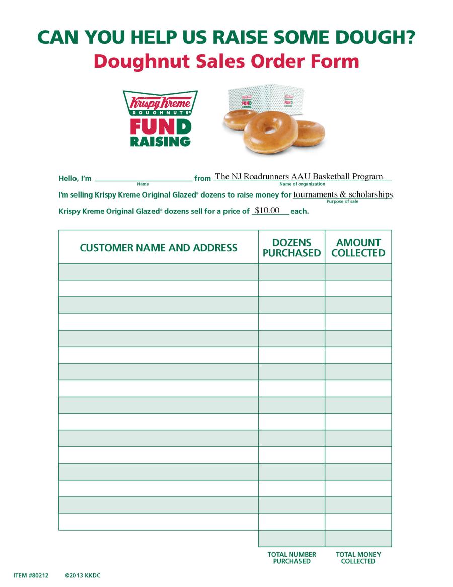 krispy kreme fundraiser order form Krispy Kreme Fundraiser Order Form