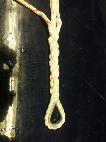 3 strand on thimble
