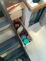 bottom drawer for condiments and other random stuff.