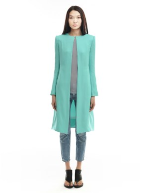 Gareth Pugh Blue Silk Coat