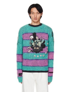 99% IS- Wool Mickey and Minnie Mouse Sweater