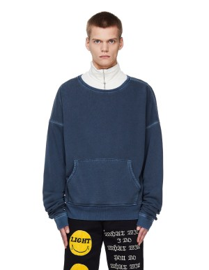 Greg Lauren Blue Washed Sweatshirt