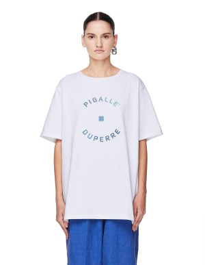 Pigalle White Cotton T-Shirt