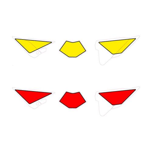 Nummerplåtsdekaler Gul & Röd (Beta)