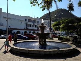 Downtown Manzanillo fountain