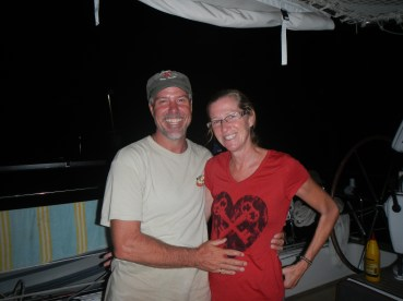 Mike and Holly from S/V Wanuskewin; Bahia del Sol, El Salvador March 2014