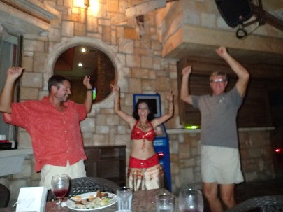 Belly dancing after a delicious middle eastern dinner