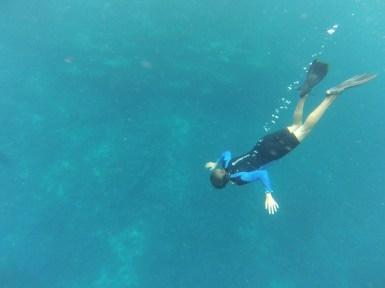 Mary snorkeling