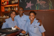 """Leticia, Eugene """"cheese"""", and Roxana knew our drink orders by heart."""