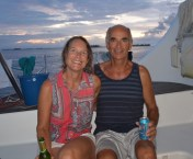 Margaret & Dave from S/V Heart and Soul; San Blas, Panama December 2014