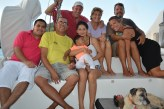 The famous Mr Bush (local boat agent) and his family visiting Neko