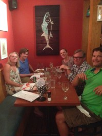 Dinner with Sophie, Gus, Dave and Eileen, Block Island