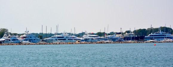 Mega yachts of the Hamptons