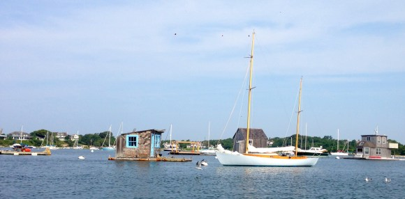 Boathouses in Woods Hole