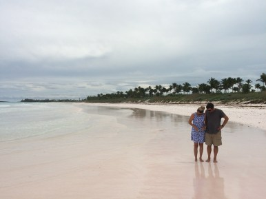 Pink sand beach in Governor's Harbour