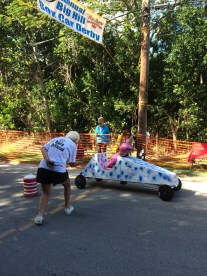 Box Cart Derby finish line
