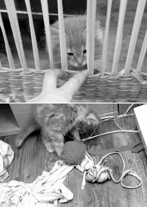 Плетем коврик в детскую по старинному методу... А я то думала, почему у бабушки такие красивые половички!