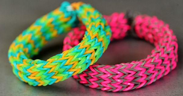 Bracelet Spit Mermaids mula sa Goma Master Class Weaving Scheme.