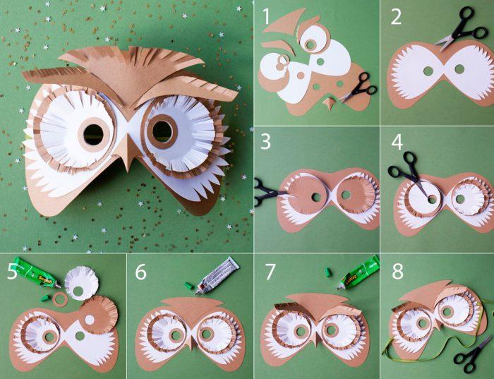 «Owl» қағаз маскасы
