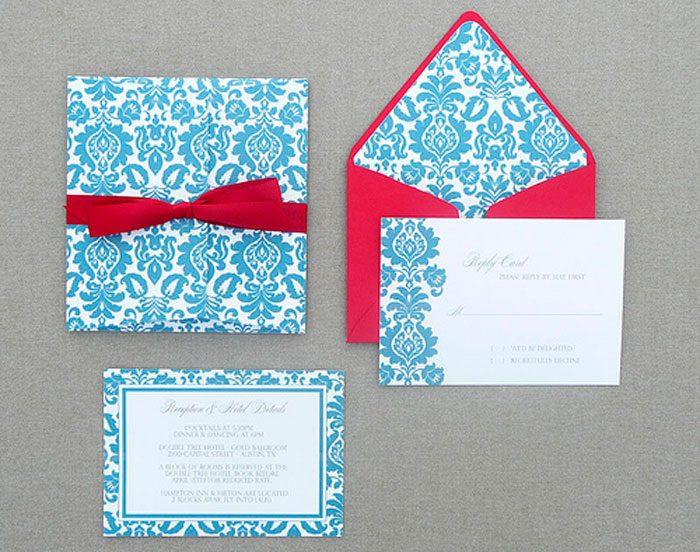 Klassische Hochzeitseinladung.