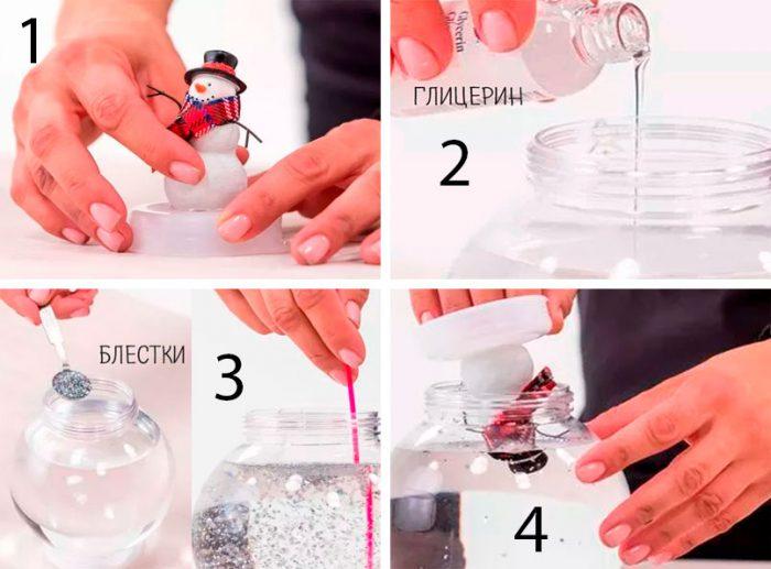 Snow Bowl con una clase maestra de muñeco de nieve