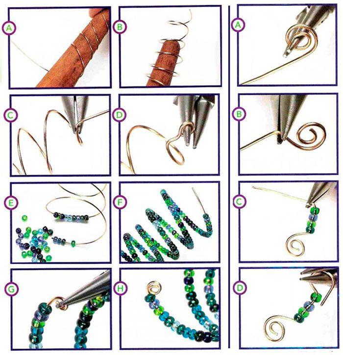 Clase magistral de espina de pescado con cuentas en espiral