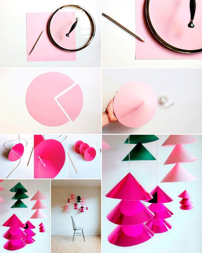 Hængende juletræ mesterklasse
