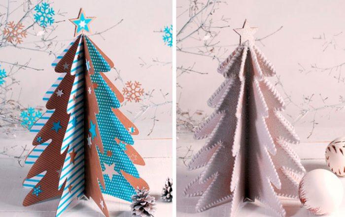 ต้นคริสต์มาสทำจากกระดาษแข็ง