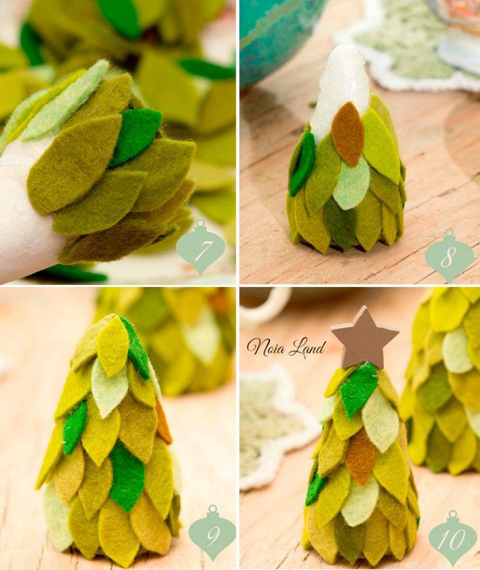Juletræ lavet af filt mesterklasse