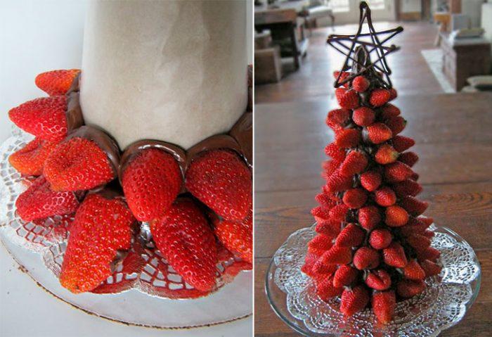 Árvore de Natal de morango
