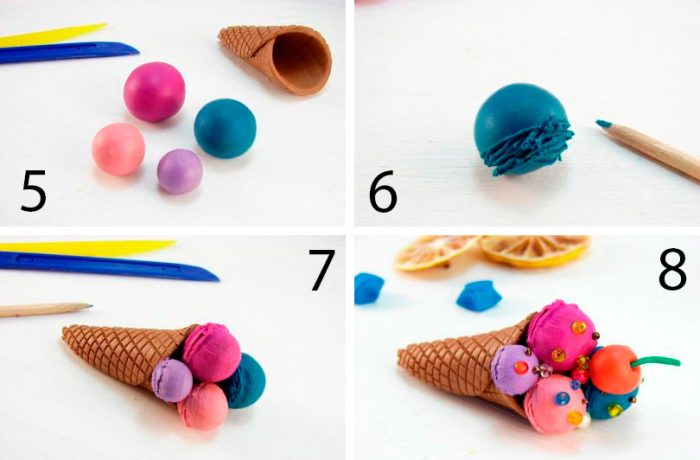 Kelas Ice Cream Plasticine
