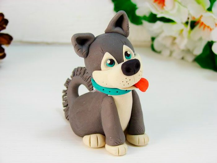 Husky από πλαστελίνη