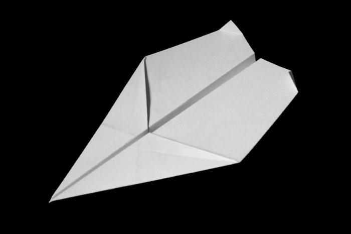 Самолёт оригами