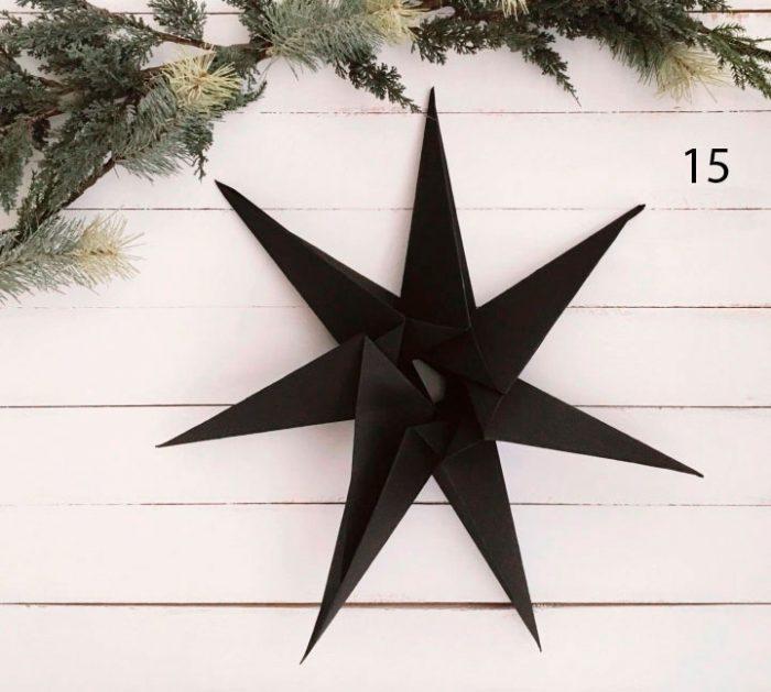 Estrela no esquema de árvore de Natal