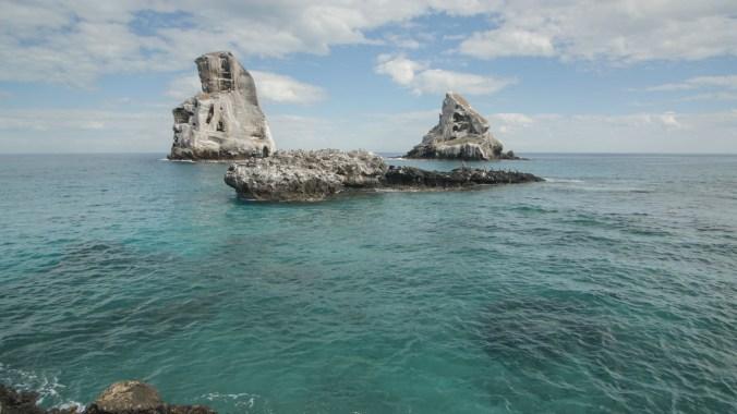 The huge pinnacle rocks at Isla Isabel